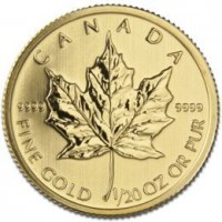 Anverso - Maple Leaf Oro 1/20 oz.